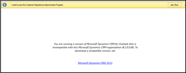 Version of CRM Outlook Client